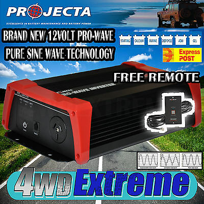 Projecta 12V Pure Sine Wave Inverter 600W Watt Camping Caravan Car Power Pw600