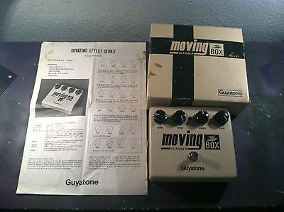 RARE GUYATONE MOVING BOX PS-107 FLANGER EFFECTS PEDAL w/ORIGINAL BOX AND MANUAL