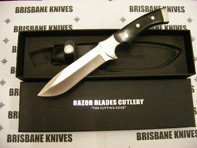 Razor Blades Black Stag Hunting Skinning Knife Bowie Hunting Camping Fishing