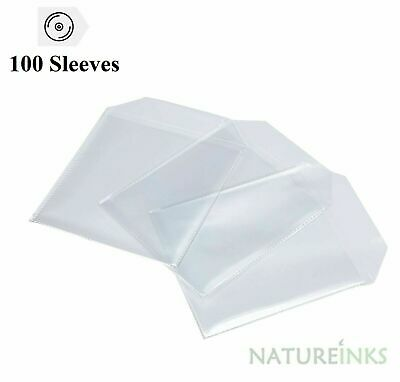 100 High Quality 150 Micron clear plastic CD DVD sleeves Side STITCH