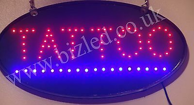 Oval 2 Mode Flashing TATTOO led new window Shop signs