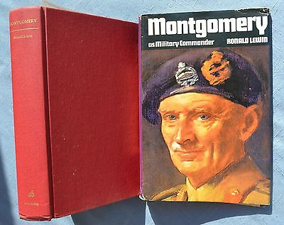 MONTGOMERY AS MILITARY COMMANDER: RONALD LEWIN 1971 HC/DJ 1st AMER Ed ILLUS