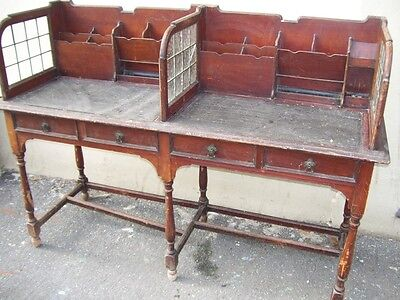 Antique Edwardian Shop Counter Clerks Desk