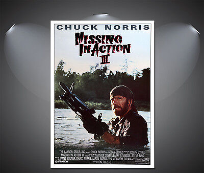 Missing In Action II Chuck Norris Vintage Movie Poster   A1, A2, A3,