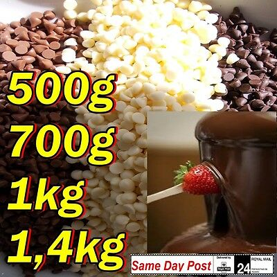 300g 500g 1kg 1,4kg drops,Chocolate Milk Dark and White for fountain , Party