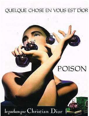 "Publicité Advertising 1986 Parfum ""Poison"" de Christian Dior"