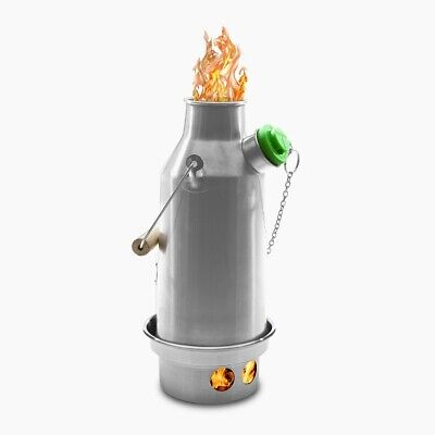 Stainless Trekker (0.6 ltr) Kelly Kettle + Whistle, Kits etc. Wood Camping Stove