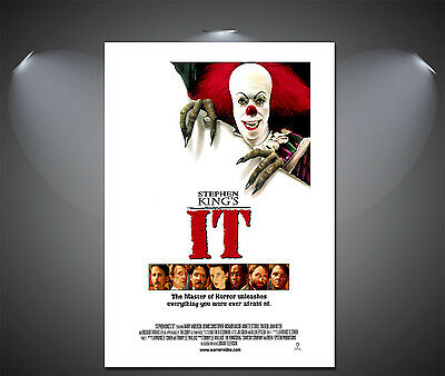 Stephen Kings IT Clown Vintage Movie Poster - A1, A2, A3, A4 Sizes