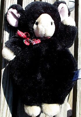 Vtg Carousel by Guy Plush teddy black bear costume Stuffed animal 80s toy bow