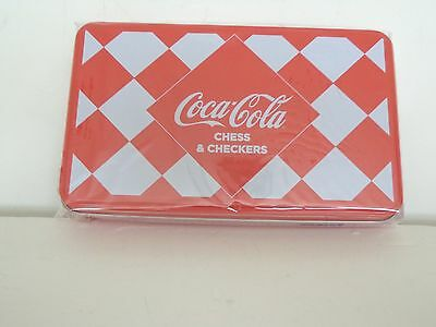 COCA-COLA MINI CHESS AND CHECKERS TWO GAME SET COKE REWARDS 2012 NEW AND SEALED