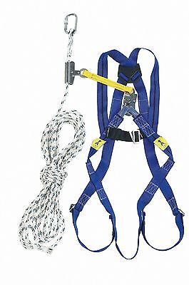 MILLER TITAN Roofers Kit - 2 Point Harness & 10m Rope with Rope Grab