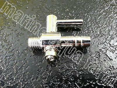 Aquarium 1 Way Chrome Air Line Threaded Tap, Tank, Manifold Regulator, Fish