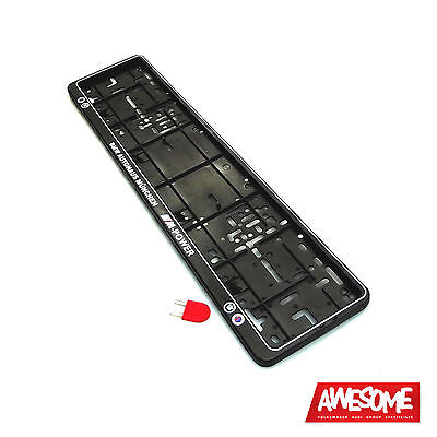 Wurth Number Plate Frame/holder Bmw Mpower/alpina M3/m5 (Single) With Key