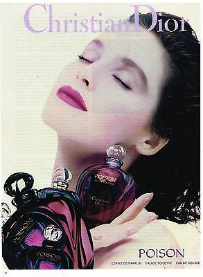 "Publicité Advertising 1990 Parfum Eau de Toilette ""Poison"" par Christian Dior"