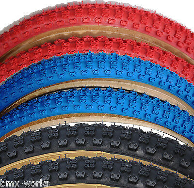 "Cheng Shin Comp 3 with Skinwall Sides BMX Tyres 20""x 1.75"" - Black, Blue or Red"