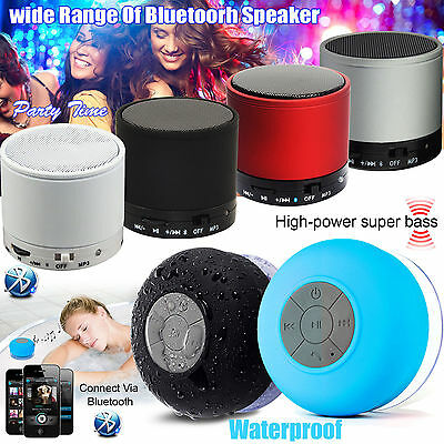 Wireless Mini Portable Bluetooth Speaker Mic for iPhone iPad Tablet PC Laptop UK