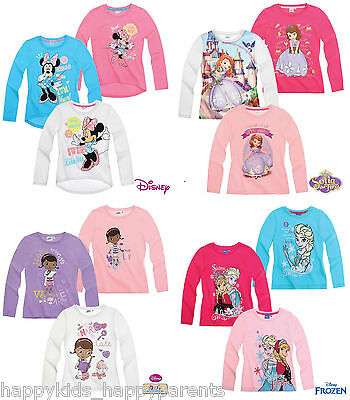 Girls Disney MINNIE MOUSE Princess SOFIA THE FIRST Doc MCSTUFFINS Top T- Shirt