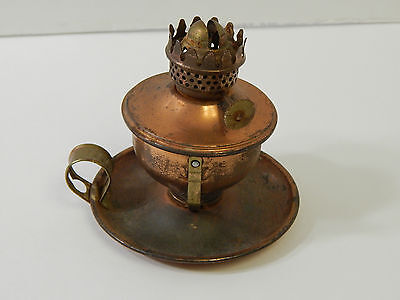 Vintage Stellar Hong Kong Mini Copper Swivel Oil Lamp / Lantern No Wick