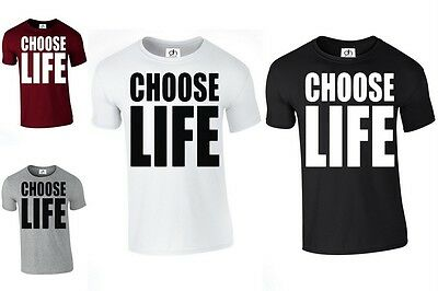 Choose Life Wham Retro 80s T Shirt fancy dress INSPIRED (CHOOSE LIFE, T-SHIRT)