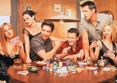 Friends Cast Poker Scene POSTER