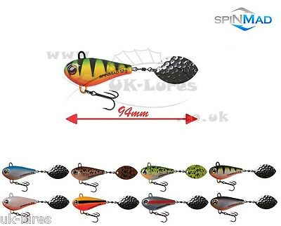 SpinMad TAIL SPINNER JIG MASTER 12g VAR. COLOURS PERCH PIKE PREDATOR UK-Lures