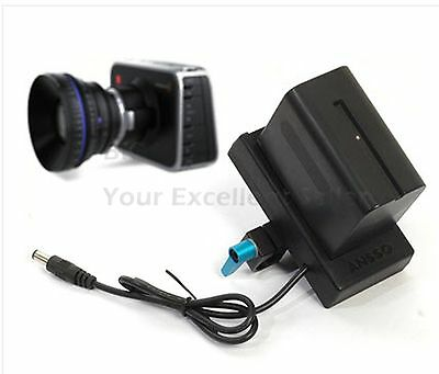 Battery Mount Plate with Clamp for SONY NP-F970 F970 & BMCC Blackmagic Cinema