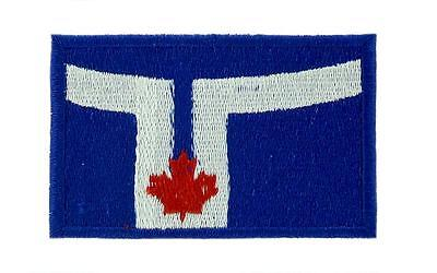 Patch écusson brodé Drapeau TORONTO CANADA Thermocollant Backpack sac à dos