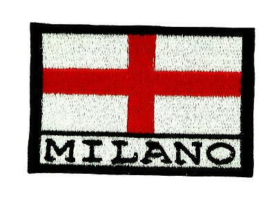 Patch écusson brodé Drapeau MILAN MILANO ITALIE Thermocollant Backpack sac à dos
