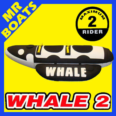 SKI TUBE ✱ WHALE 2 ✱ LARGE 1 - 2 SEATER BISCUIT. FAMILY FUN 2 Person Brand New