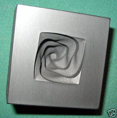 Graphite Twisted Knob Mold: Glass Push Mold/Silver Pour Mold (roughly 1.8-2.0oz)