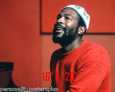 """Marvin Gaye~Motown~Photo~Color~ Poster 16"""" x  20"""""""