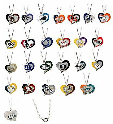 Swirl Heart Necklace Nfl Pick Your Team
