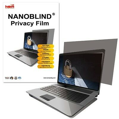 "15.6"" inch WIDE (344.5x195.1mm) NANOBLIND Privacy Screen Filter Film for Laptop"