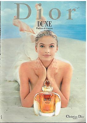 "Publicité Advertising 1997 Parfum ""Dune"" par Christian Dior"
