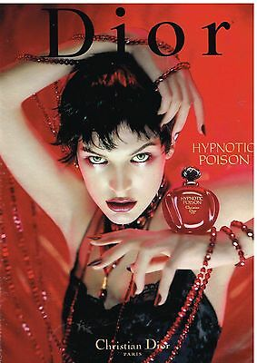 "Publicité Advertising 1998 Parfum ""Hypnotic Poison"" par Christian Dior"