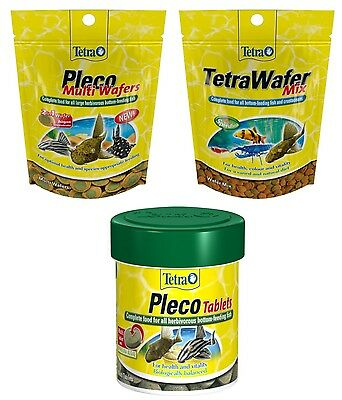 Tetra Pleco Multi Wafers, Wafer Mix & Plecomin Tablets, Multi Listing Fish Food