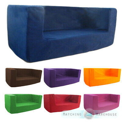 Kids Children's Double Comfy Settee Toddlers Foam Sofa COVER ONLY Seating 2 Seat