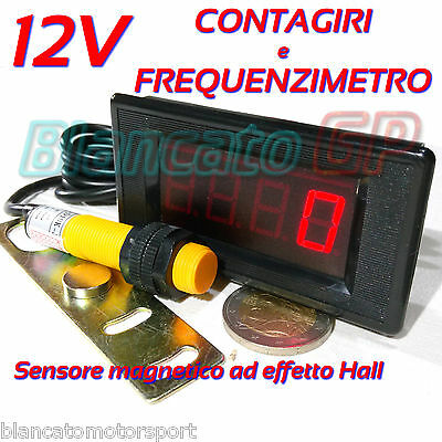 CONTAGIRI E FREQUENZIMETRO DIGITALE LED 9999Hz 9999rpm trapano a colonna tornio