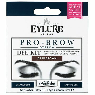 Eylure Dybrow BROWN Glossy Brows Eyebrow Dye Dye Kit Previously Dylash