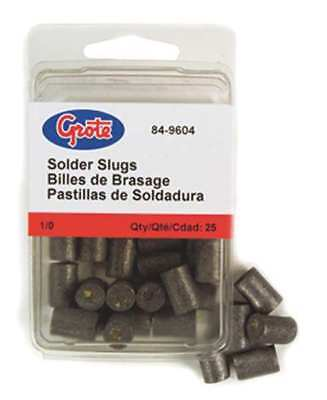 GROTE 84-9600 Solder Pellet with Flux, Gray, PK25