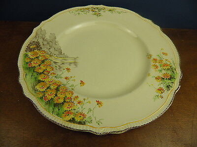 ROYAL WINTON YELLOW MORN 25.5cm DINNER PLATE