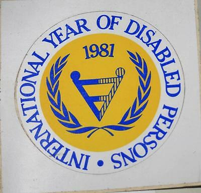 Retro Sticker -  International Year of Disabled Persons 1981