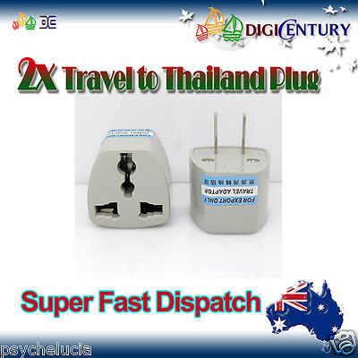 2x Power Plug Australia Travel to China, Japan, Thailand, Mexico Adapter 2 Pin