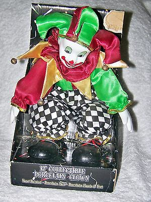 "12"" Collectible Porcelain Clown"