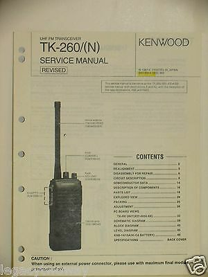Kenwood UHF Transceiver Service Manual TK-260 (N) B51-8314-10 Revised