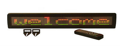 NEW! TriColor LED Programmable Scrolling Message Display Sign + Wireless Remote