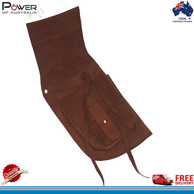 Traditional Archery Field Hip Quiver Lightweight Ammara Suede Leather Brown, NEW