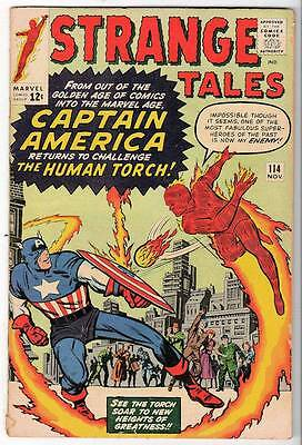 Marvel Comics  FN- 5.0  STRANGE TALES #114  Battles human torch Captain america