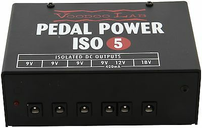 Voodoo Lab Pedal Power ISO 5 Professional Power Supply For Guitar Effect Pedals