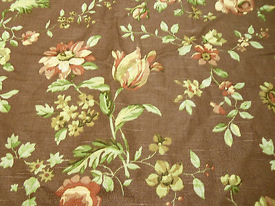 Richloom's Platinum Collection Chocolate Floral 100% cotton Screen Print Fabric